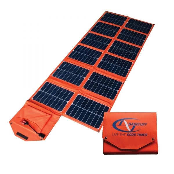 Baintech Foldable Solar Blanket 180w - Orange With Pwm