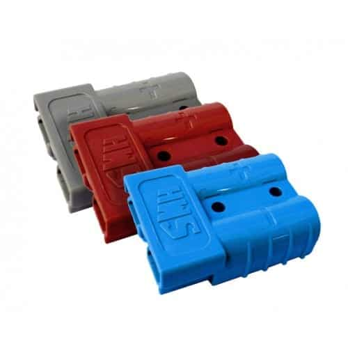 Baintech 3 Pack Anderson Plugs 50amp Red Blue Grey