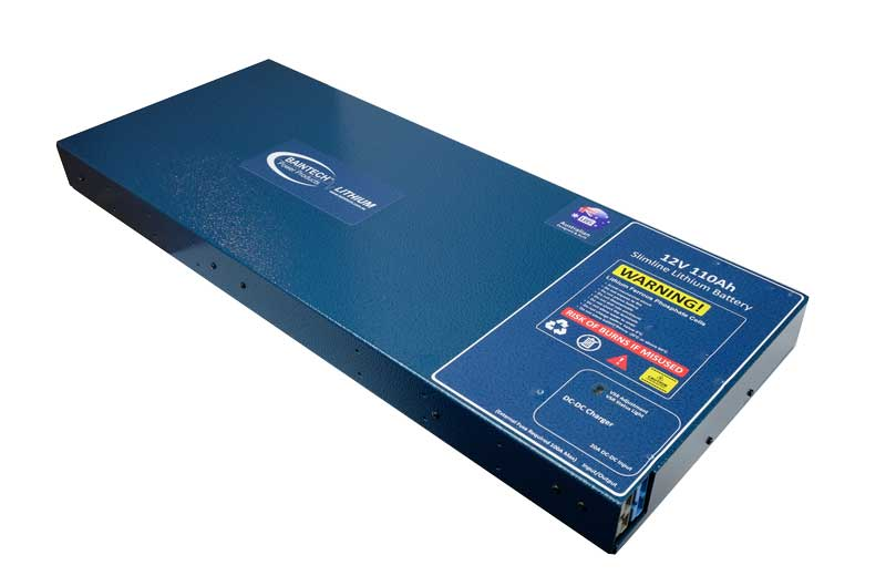 110Ah Slimline Lithium Battery with in-built 20A DC-DC Charger