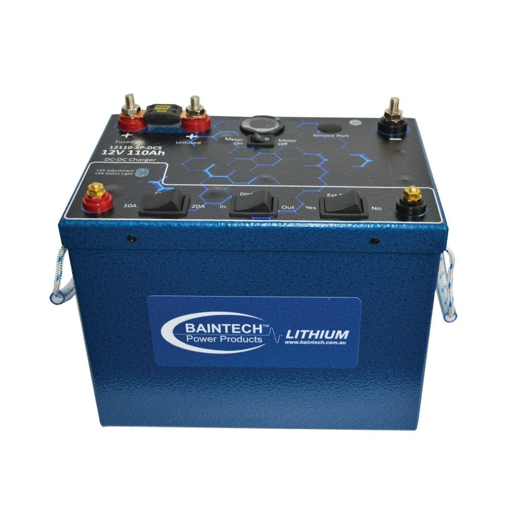 110Ah Standard Lithium Battery with in-built 10A-20A DC-DC Charger