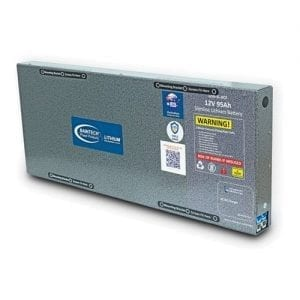 95Ah Baintech Slimline Lithium Battery with in-built 20A DC DC